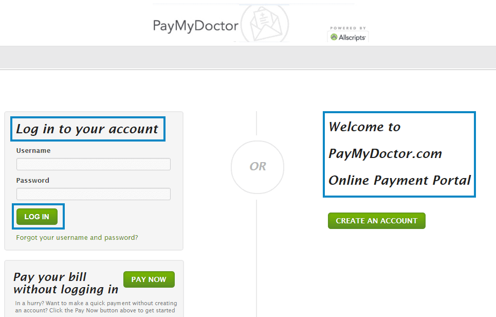 Paymydoctor Login
